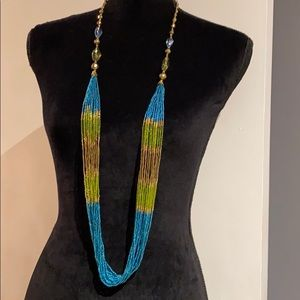 """🆕 NEW Long Beaded """"Colors of Summer"""" Necklace 🌞"""